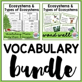Ecosystems Vocabulary Bundle