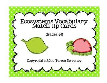 Ecosystems Vocabulary Match Up Cards