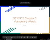 Ecosystems Vocabulary (Pearson Realize 5th Grade)