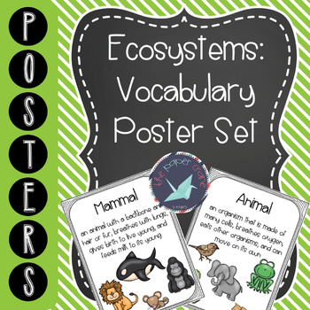 Ecosystems: Animal Systems and Life Cycles Vocabulary Poster Set