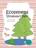 Ecosystems Vocabulary QR Code Word Work