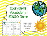 Ecosystems Vocabulary Review BINGO Game