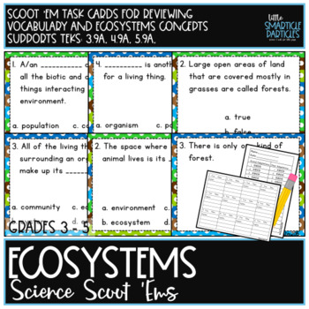 Ecosystems Task Cards: Science Scoot 'ems