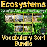 Ecosystems Vocabulary Sort Bundle