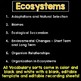 Ecosystems Vocabulary Sort Bundle
