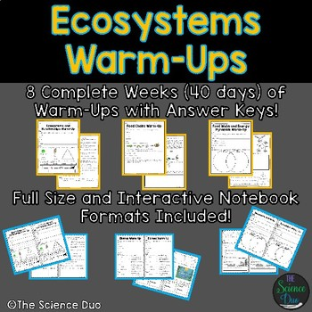 Ecosystems Warm-Ups (Bell Ringers)