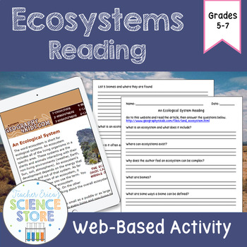 Ecosystems Web-Quest