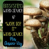 Ecosystems Word Search Updated....More included Not just a fun sheet!