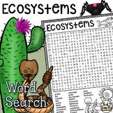 Ecosystems Word Search Activity