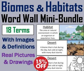 Ecosystems Word Wall: Biomes and Habitats Unit