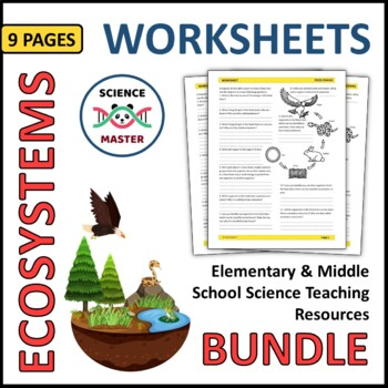 Ecosystems Worksheets | Teachers Pay Teachers