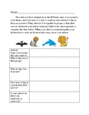 Ecosystems and Animals in Groups- Research/Informational E