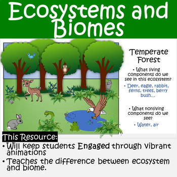 Ecosystems and Biomes Animated PowerPoint and Guided Notes