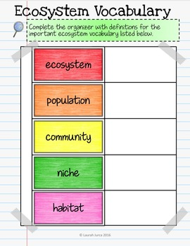 Ecosystems and Land Biomes Interactive Digital Notebook for Google Drive®