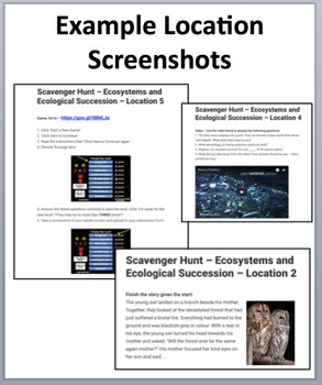 Ecosystems and Ecological Succession – A Device-Based Scavenger Hunt Activity