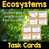 Ecosystems Task Cards - Distance Learning Compatible