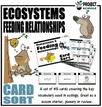 Ecosystems and Feeding Relationships Card Sort