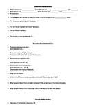 Ecosystems and Genetics Review Station Notetaking Guide-5th Grade