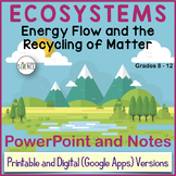 Ecosystems: Energy Flow and the Recycling of Matter PowerPoint