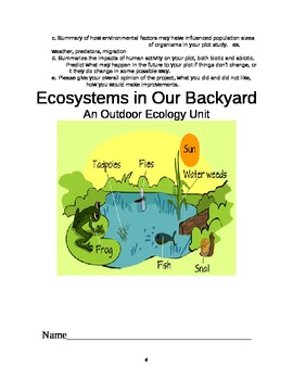Ecosystems in Our Backyards:  An Outdoor Ecology Unit