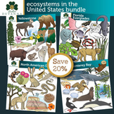Ecosystems in the United States Clip Art Bundle