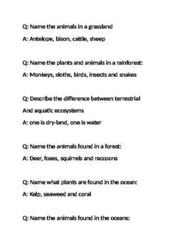 Ecosystems review Quiz Quiz Trade
