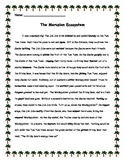 Ecosystems using ELA & Art: Parts of Speech, Energy Roles, Energy Pyramids