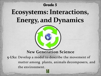 Ecosystems:Interactions, Energy and Dynamics NGSS Grade 5-LS2 A&B