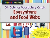 Ecosystems & Food Webs | 5th Grade | Vocabulary Cards