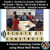 Écoute et construis - French Listening & Word Wall Center