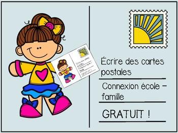 Écrire des cartes postales - French postcard