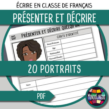 Writing in French/FFL/FSL: Décrire 20 portraits/Describe