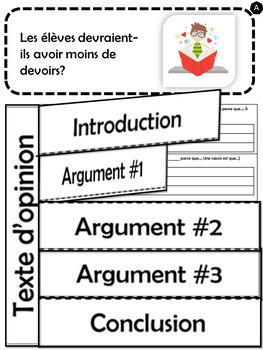 Écrire un texte d'opinion - Thème: L'école #1