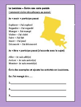 SALE! French Post Card - La Louisiane - Mardi Gras (Cultural Mini-Unit)