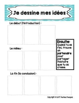 Écrire une histoire en français : Student story writing guide