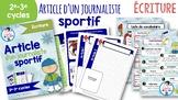 Écriture-Article d'un journaliste sportif
