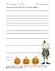 Écriture Halloween - Petit moment d'écriture No 1