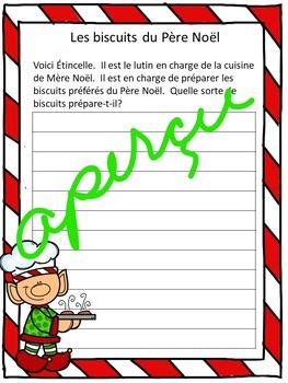 Écriture créative - Les biscuits de Noël- Imprimable et projetable