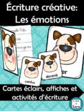 Écriture créative - cartes éclairs - affichage: Les émotions