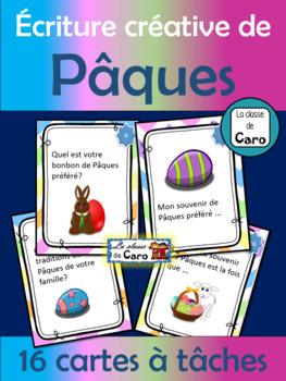 Écriture créative de Pâques - 16 cartes à tâches