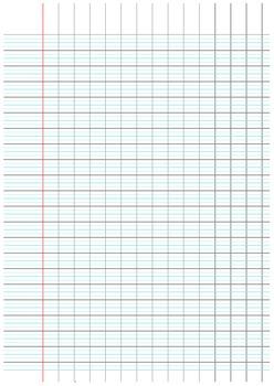 Ecriture cursive française - Feuille Seyes agrandi (3 mm)