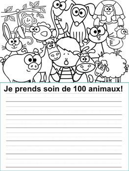 Écriture sans préparation (French Writing prompts) 100 jours d'école