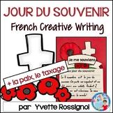 Écriture sans préparation (French Writing prompts)Jour du souvenir, Paix, Taxage