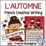 Écriture - L'automne - La rentrée - French Writing prompts - French Fall