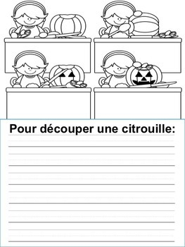 Écriture - L'Halloween - French Writing prompts - French Halloween