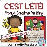 Écriture - L'été - La fin de l'année scolaire - French Summer Writing prompts