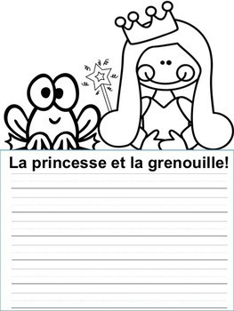 Écriture sans préparation (French Writing prompts) Les animaux  NO PREP French