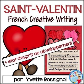 Écriture - St. Valentin - État d'esprit de développement - French Writing