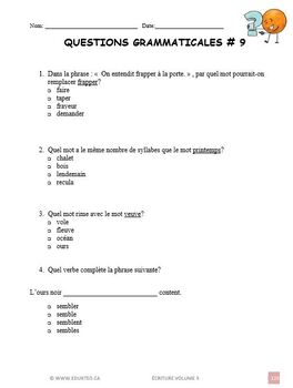 Écriture, volume 3,  French Immersion (#151)