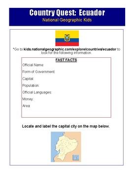 Ecuador Culture Activity
